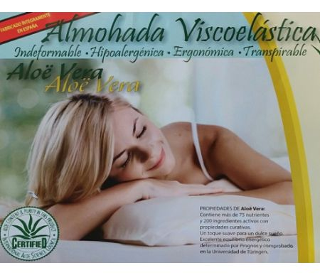 Almohada Visco Elastica Aloe Vera