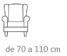 medidas de fundas de sillón orejero